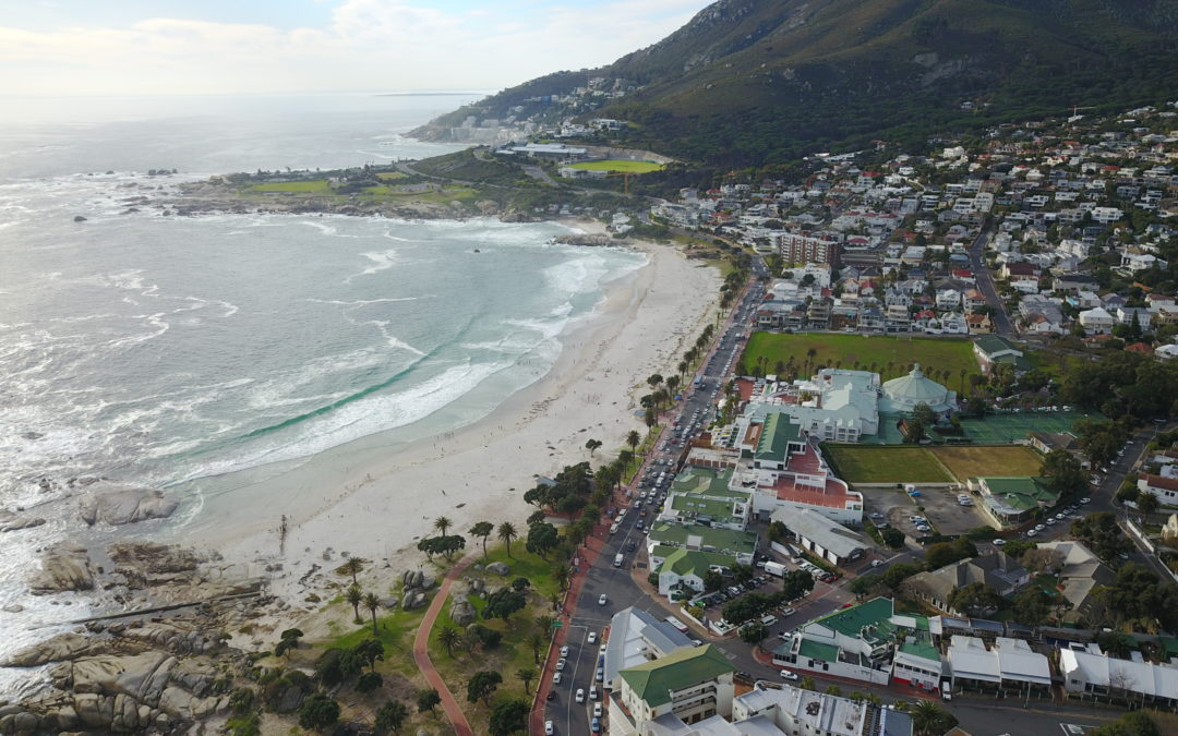 camps bay aerial view
